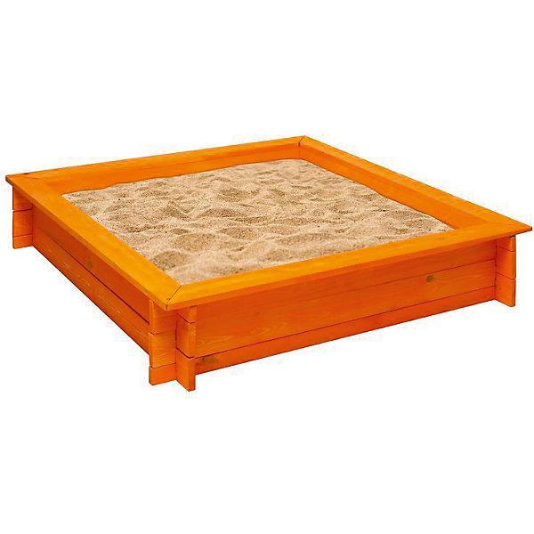 PAREMO Деревянная песочница Афина, оранжевая, PAREMO песочницы pic n mix песочница крыло бабочки