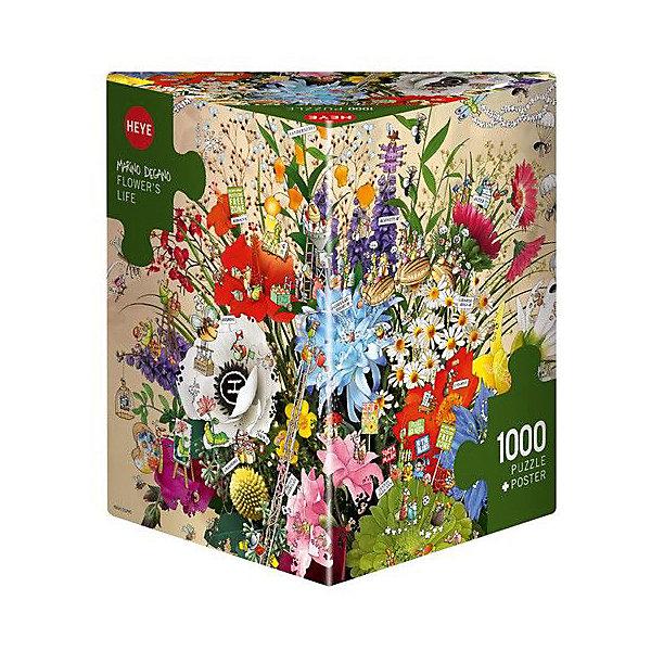 Пазлы Жизнь цветов, 1000 деталей, HeyeПазлы классические<br>Характеристики товара:<br><br>• возраст: от 8 лет<br>• количество деталей: 1000 деталей <br>• размер собранного пазла: 70х50 см.<br>• материал: картон<br>• упаковка: картонная коробка в форме треугольника<br>• размер упаковки: 37х27х5 см.<br>• вес: 840 гр.<br>• страна обладатель бренда: Германия<br><br>Яркие элементы  пазла образуют красочную и романтичную картину цветов в вазе, которая замечательно дополнит интерьер и будет поднимать настроение, а также станет отличным подарком.   <br><br>Сбор элементов в одно изображение способствует развитию образного и логического мышления. Является увлекательным и интересным процессом, который в свою очередь обладает великолепным  релаксационным эффектом.<br><br>Пазл Жизнь цветов, 1000 деталей, HEYE ( ХАЙЕ) можно купить в нашем интернет-магазине.<br>Ширина мм: 371; Глубина мм: 55; Высота мм: 271; Вес г: 840; Возраст от месяцев: 216; Возраст до месяцев: 2147483647; Пол: Унисекс; Возраст: Детский; SKU: 6881430;