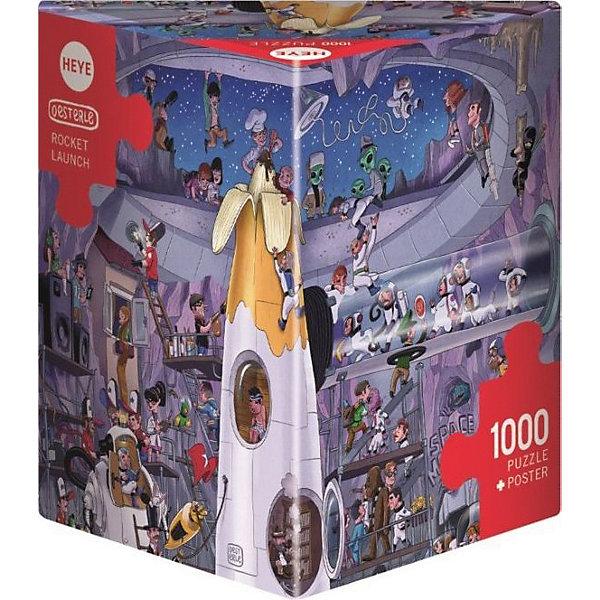 Пазлы Перед стартом ракеты, 1000 деталей, HeyeПазлы классические<br>Характеристики товара:<br><br>• возраст: от 8 лет<br>• количество деталей: 1000 деталей <br>• размер собранного пазла: 70х50 см.<br>• материал: картон<br>• упаковка: картонная коробка в форме треугольника<br>• размер упаковки: 37х27х5 см.<br>• вес: 840 гр.<br>• страна обладатель бренда: Германия<br> <br>Яркие и качественные элементы  пазла образуют веселую и увлекательную картину Ракеты перед стартом с множеством юмористических сюжетов, который обязательно порадует всех любителей космоса, взрослых и детей. Оригинальная упаковка пазла в виде треугольника отлично подойдет в качестве подарка.<br><br>Качественный материал элементов пазла позволяет  собрать и сохранить картину, создавая в меру глянцевый эффект (а значит не сильно бликующий) и хорошую сцепку деталей.<br><br>Сбор элементов в одно изображение способствует развитию образного и логического мышления, отлично тренирует мелкую моторику и глазомер.<br><br>Пазл Перед стартом ракеты, 1000 деталей, HEYE ( ХАЙЕ) можно купить в нашем интернет-магазине.<br>Ширина мм: 371; Глубина мм: 55; Высота мм: 271; Вес г: 840; Возраст от месяцев: 216; Возраст до месяцев: 2147483647; Пол: Унисекс; Возраст: Детский; SKU: 6881432;
