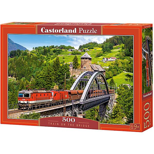 Castorland Пазлы Поезд на мосту , 500 деталей, Castorland castorland пазлы парусник 1000 деталей castorland