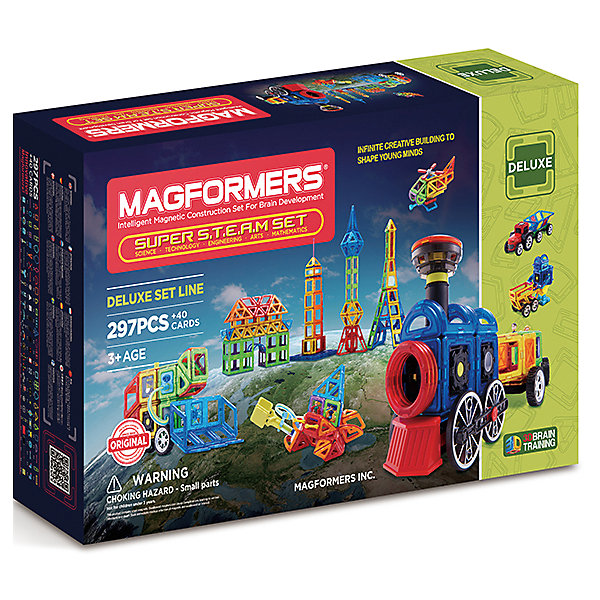 купить MAGFORMERS Магнитный конструктор 710009 Super Steam set, MAGFORMERS онлайн