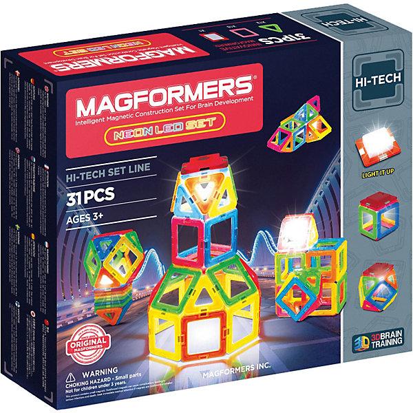 MAGFORMERS Магнитный конструктор 709007 Neon Led set, MAGFORMERS magformers магнитный конструктор xl cruiser set цвет красный желтый