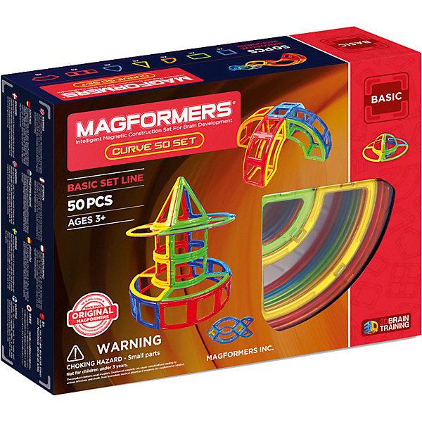 MAGFORMERS Магнитный конструктор 701012 Curve 50 set, MAGFORMERS