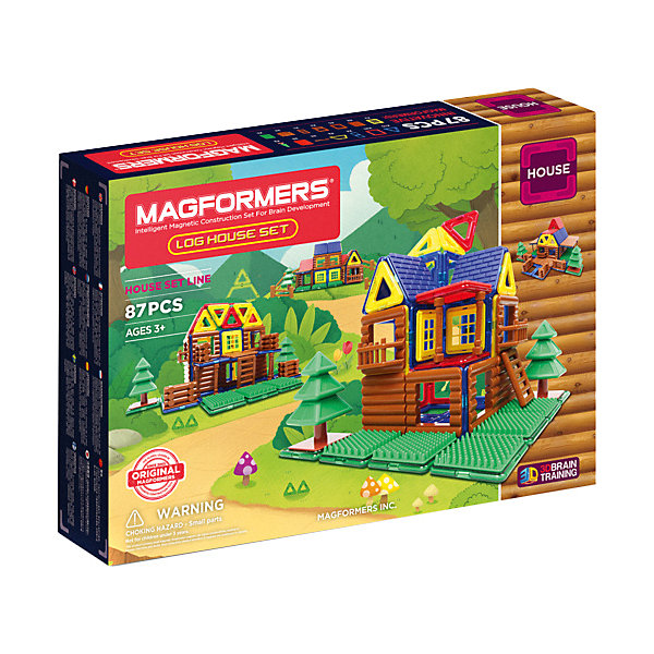 MAGFORMERS Магнитный конструктор 705004 Log House Set, MAGFORMERS magformers магнитный конструктор window inspire 30 set