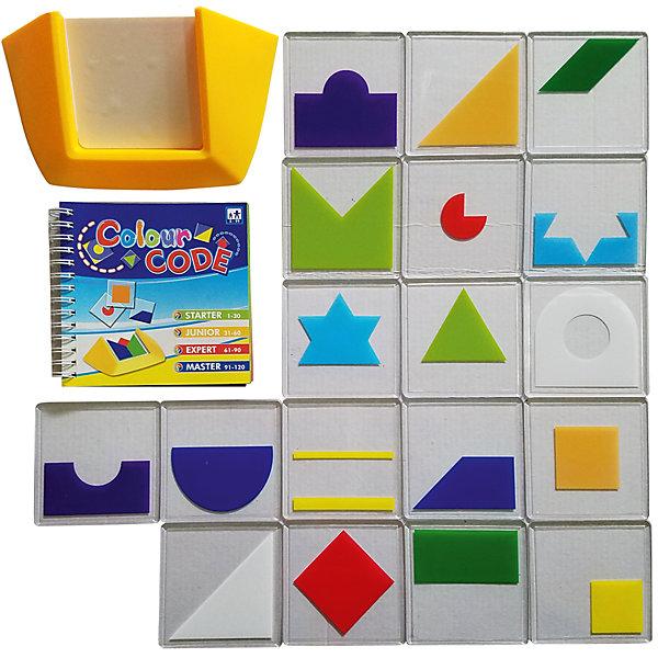 Игра Цветовой код, Icoy ToysСтратегические настольные игры<br>Логическая игра ICOY TOYS Цветовой код - эта игра – просто взрыв красок! Весь мир насыщен разнообразными цветами и сотнями их оттенков, а многие из них являются таинственным зашифрованным кодом, читать который мы учимся всю жизнь. Зеленый - цвет летней травы и листвы деревьев, желтый – цвет солнца и радости, красный – цвет тюльпанов и маминой помады.<br><br>Игра Цветовой код поможет не заблудиться в цветовом разнообразии жизни! Увлекательная игра для взрослых и детей с огромным количеством вариантов заданий. Нужно сложить плитки таким образом, чтобы воспроизвести композицию из карточки с выбранным заданием. При решении поставленной задачи надо правильно скомбинировать цвета, формы и последовательность расположения плиток. Правильно выполнить задание поможет внимание, логика и терпение.<br><br>Рекомендуем играть в Цветовой код вместе с детьми. Логическая игра - прекрасный способ весело и с пользой провести свободное время с ребенком!<br><br>Количество игроков: от 1 человека.<br>Размеры подставки: 19 см х 10,5 см х 5 см.<br>Размеры плиток: 8,5 см х 8,5 см<br>Количество плиток: 18 шт.<br>Размеры упаковки: 24 см x 24 см x 5 см.<br>Упаковка: картонная коробка.<br>Ширина мм: 70; Глубина мм: 235; Высота мм: 280; Вес г: 660; Возраст от месяцев: 60; Возраст до месяцев: 168; Пол: Унисекс; Возраст: Детский; SKU: 6883975;
