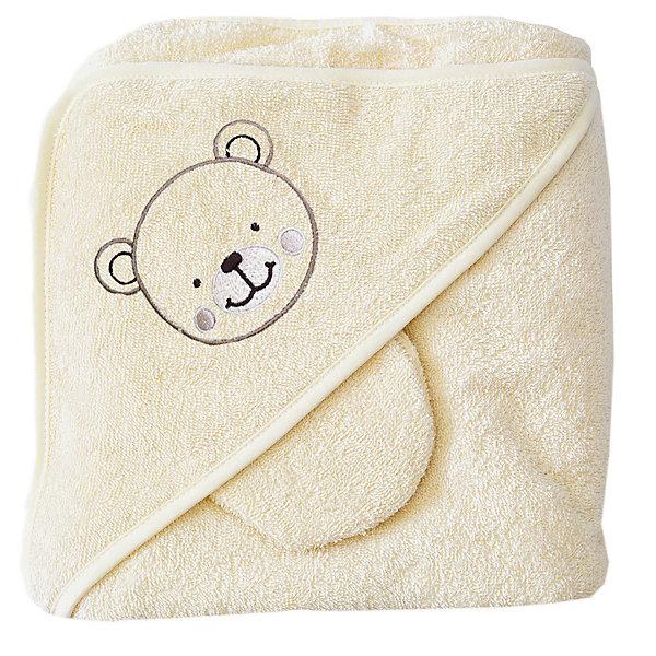 Baby Nice Махровое полотенце с уголком, 75х75 см., Baby Nice, шампань guess солнечные очки