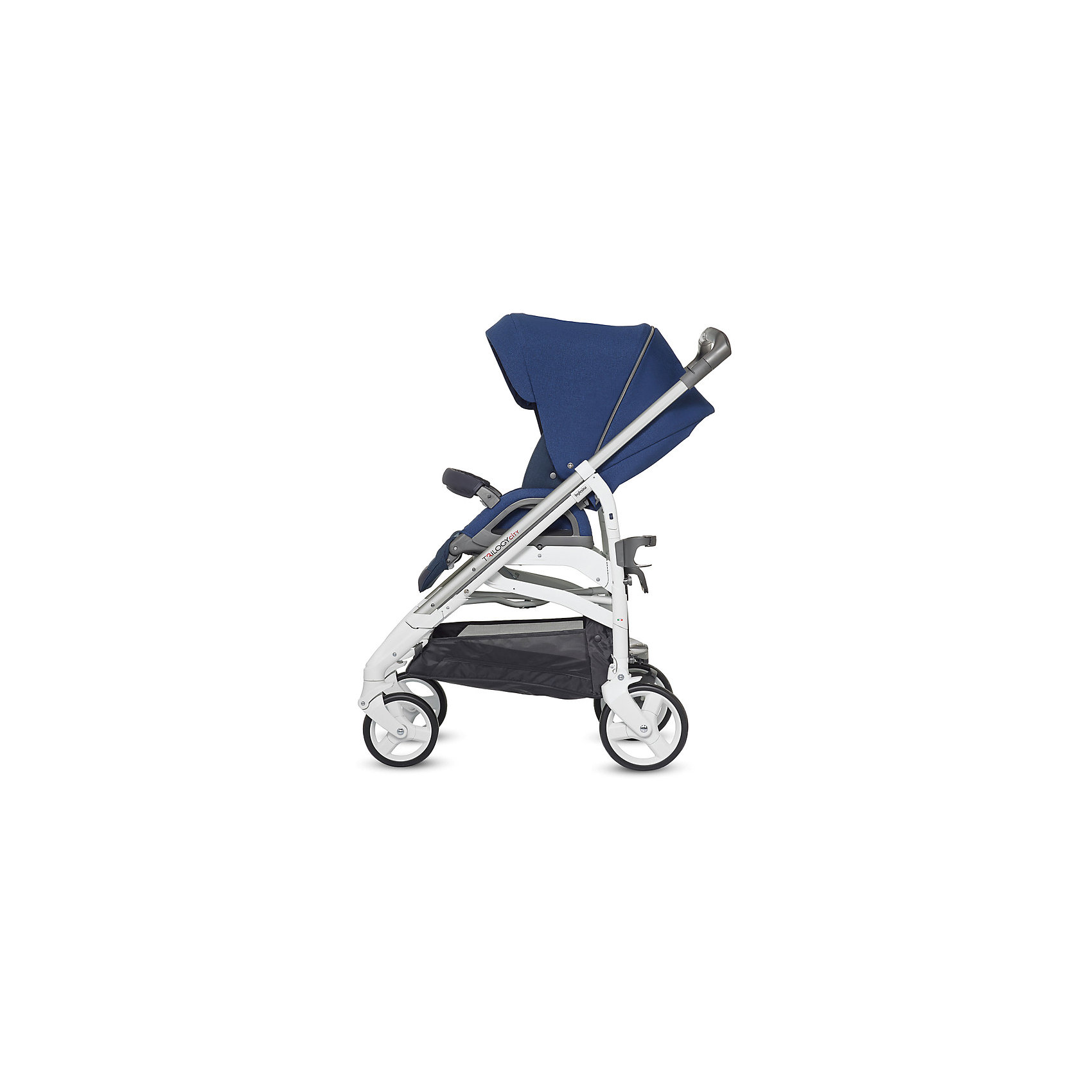 Прогулочная коляска Inglesina Trilogy all over, Cobalt Blue, белое шасси