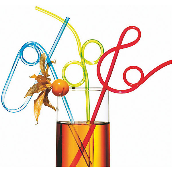 Фотография товара трубочки для коктейля, гибкие, 25 см. 4 шт (6886476)