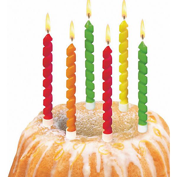 herlitz Свечи для торта Twister, 6 шт, блистер страна карнавалия свечи для торта с днем рождения 420545