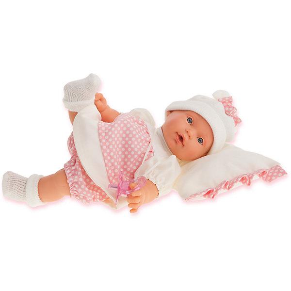 Munecas Antonio Juan Кукла Ланита на бежевой подушке, 27 см,