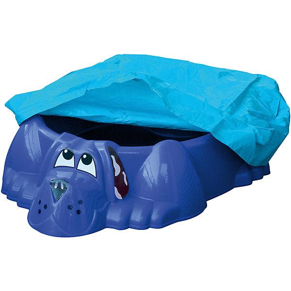 PalPlay Бассейн-песочница Собачка стентом, синяя, PalPlay
