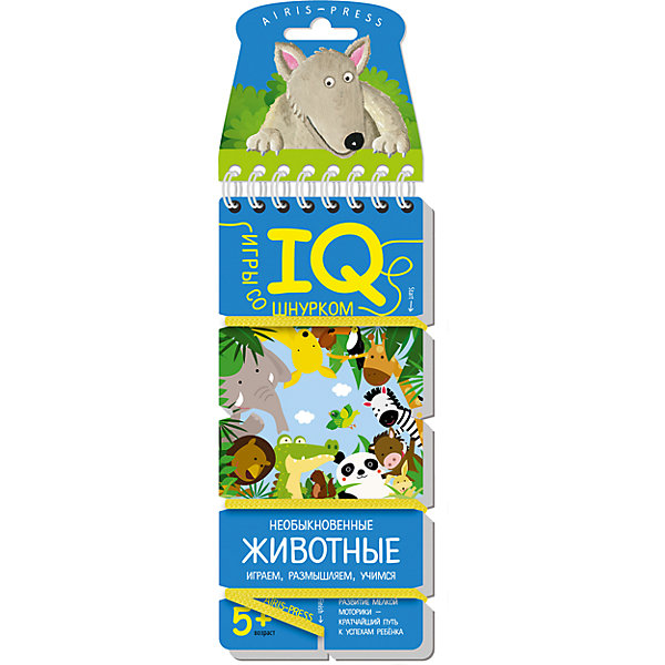 Игры со шнурком Необыкновенные животныеОзнакомление с окружающим миром<br>Характеристики:<br><br>• возраст: от 5 лет<br>• составители: Куликова Е.Н., Ходюшина Н.П.<br>• издательство: Айрис-пресс<br>• количество карточек 18<br>• материал карточек: прочный картон<br>• размер блокнота: 7х15,5 см.<br><br>«Необыкновенные животные» - развивающее игровое пособие, которое познакомит ребенка с животными. Интересная форма выполнения заданий и самопроверки увлекает детей и приучает к самостоятельным занятиям.<br><br>В блокноте 18 игровых карточек, переплёт с пружиной и прочный шнурок, надёжно прикреплённый металлической заклёпкой. На каждой карточке картинки-задания. Для каждой картинки необходимо подобрать пару. Схема, по которой нужно подбирать пару, нарисована. <br><br>Для проверки правильности выполнения заданий используется шнурок. Пары картинок последовательно соединяются шнурком. В результате шнурок определенным образом переплетает карточку. Если шнурок будет идти по линиям, нарисованным с обратной стороны карточки, значит задание выполнено, верно.<br><br>Игры со шнурком развивают внимание, усидчивость, самодисциплину, мышление, мелкую моторику и координацию движений. Интуитивно понятные задания помогают ребёнку почувствовать уверенность в своих силах и учиться с удовольствием. Игры со шнурком - это простое и удобное пособие для занятий в детском саду, дома и на отдыхе.<br><br>Игры со шнурком Необыкновенные животные можно купить в нашем интернет-магазине.<br>Ширина мм: 36; Глубина мм: 70; Высота мм: 160; Вес г: 62; Возраст от месяцев: 60; Возраст до месяцев: 2147483647; Пол: Унисекс; Возраст: Детский; SKU: 6886636;