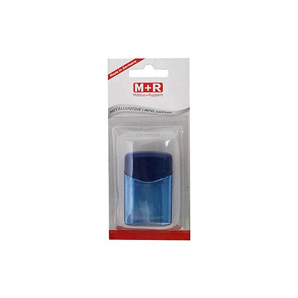 M+R Точилка пластмассоваяЛастики и точилки<br>Точилка пластмассовая QUATTRO SWING, четырехугольная форма, с контейнером, блистерная упаковка