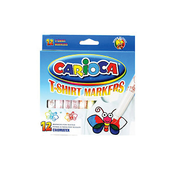 Carioca CARIOCA Набор фломастеров по текстилю carioca набор крупных пластиковых мелков plastello maxi 12 цветов