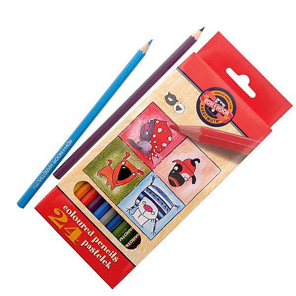 Koh-i-noor KOH-I-NOOR Набор карандашей цветных КОШКИ+СОБАКИ, 24 цв.