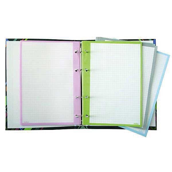 INDEX Сменный блок для тетрадей на кольцахТетради<br>4-х цветный блок, который имеет цветную рамку-окантовку и белое поле для удобного письма. Плотность - 60 г/м2. 200 листов<br>Ширина мм: 210; Глубина мм: 150; Высота мм: 20; Вес г: 398; Возраст от месяцев: 36; Возраст до месяцев: 168; Пол: Унисекс; Возраст: Детский; SKU: 6888750;