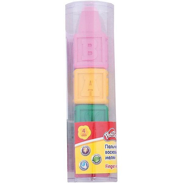 Kinderline Play-Doh Восковые мелки для самых маленьких 4 шт. Размер 14 х 3,7 см.
