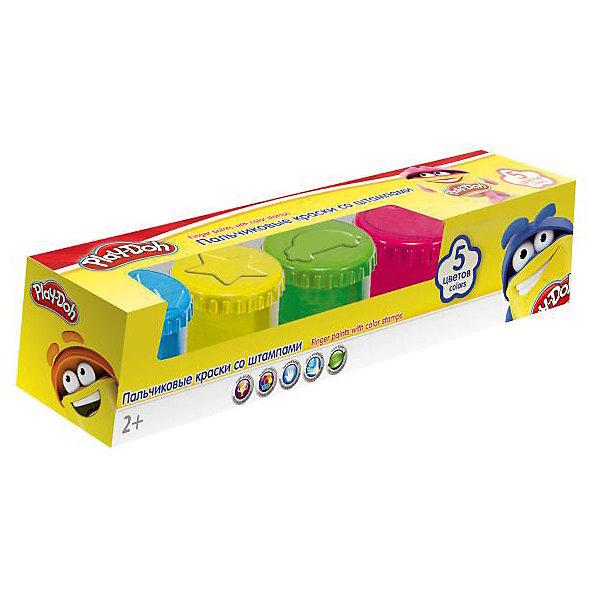 Darpeje Пальчиковые краски Darpeje Play-Doh, 5 цветов play doh мелки восковые пальчиковые 4 шт