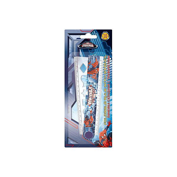 Kinderline Spider-man Classic Линейка, 30 см. Размер 23,5 х 9,5 х 0,5 см. набор канцелярский spider man classic 5 предметов smcb us1 360
