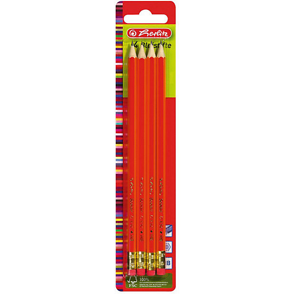 Herlitz Карандаши чернографитные.с ластиком, НВ, 4штКарандаши<br>Характеристики:<br><br>• возраст: от 3 лет<br>• в наборе: карандаши чернографитные с ластиками 4 шт.<br>• твердость грифеля: НВ<br>• материал корпуса: древесина<br>• упаковка: блистер<br>• размер упаковки: 23,5х4,9х0,8 см.<br><br>Набор чернографитных карандашей с ластиками от Herlitz (Херлиц) отлично подойдет для различных графических или чертежных работ. В набор входят четыре чернографитовых карандаша твердостью HB. Карандаши имеют шестигранный корпус. Легко точатся. Грифель ударопрочный.<br><br>Карандаши изготовлены из древесины, которая сертифицирована независимой международной организацией FSC (Forest Stewardship Council) — Лесным Попечительским советом, что является показателем того, что продукция происходит из леса, в котором ведется экологически и социально ответственное лесное хозяйство.<br><br>Herlitz Карандаши чернографитные.с ластиком, НВ, 4шт можно купить в нашем интернет-магазине.<br>Ширина мм: 80; Глубина мм: 490; Высота мм: 2350; Вес г: 0; Возраст от месяцев: 36; Возраст до месяцев: 2147483647; Пол: Унисекс; Возраст: Детский; SKU: 6892620;