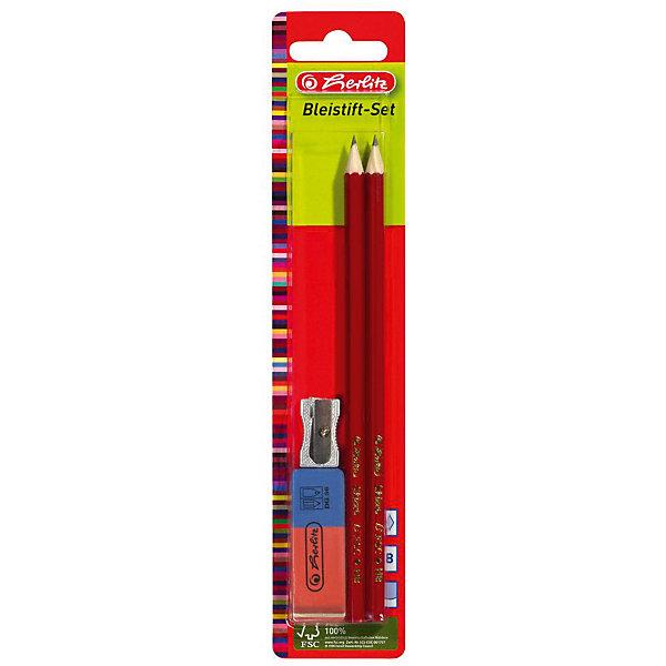 herlitz Herlitz Набор: 2 карандаша, точилка,ластик диски cd rw verbatim 700mb 12x cakebox 10шт 43480