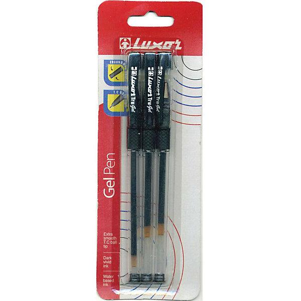 Фото - Luxor Ручки Tru Gel 3 штуки 0,3мм черные luxor набор гелевых ручек tru gel цвет синий 3 шт