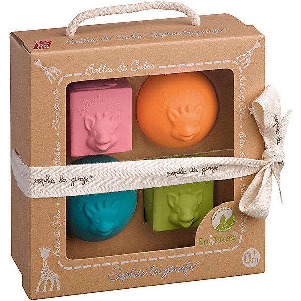 Игрушки в наборе: мячики, кубики, VulliРазвивающие игрушки<br>Характеристики товара:<br><br>• в комплекте: 2 шарика, 2 кубика;<br>• материал: каучук;<br>• возраст: от 3-х месяцев;<br>• размер упаковки: 16х8х16 см;<br>• вес: 121 грамм;<br>• страна бренда: Франция.<br><br>Набор игрушек от французского бренда Vulli предназначен для игр и развития малыша. В набор входят два шарика и два кубика с рельефной поверхностью.<br><br>Размер и форма игрушек удобны для маленьких ручек, поэтому малыш сможет играть с предметами, сжимать их и даже грызть.<br>Игрушки выполнены из безопасных для ребенка материалов.<br><br>Набор игрушек Vulli способствует развитию мелкой моторики, тактильного и цветового восприятия. Рельефная поверхность игрушек стимулирует нервные окончания, что очень важно для развития нервной системы.<br><br>Игрушки в наборе: мячики, кубики, Vulli (Вулли) можно купить в нашем интернет-магазине.<br>Ширина мм: 160; Глубина мм: 80; Высота мм: 160; Вес г: 121; Возраст от месяцев: 3; Возраст до месяцев: 2147483647; Пол: Унисекс; Возраст: Детский; SKU: 6893351;