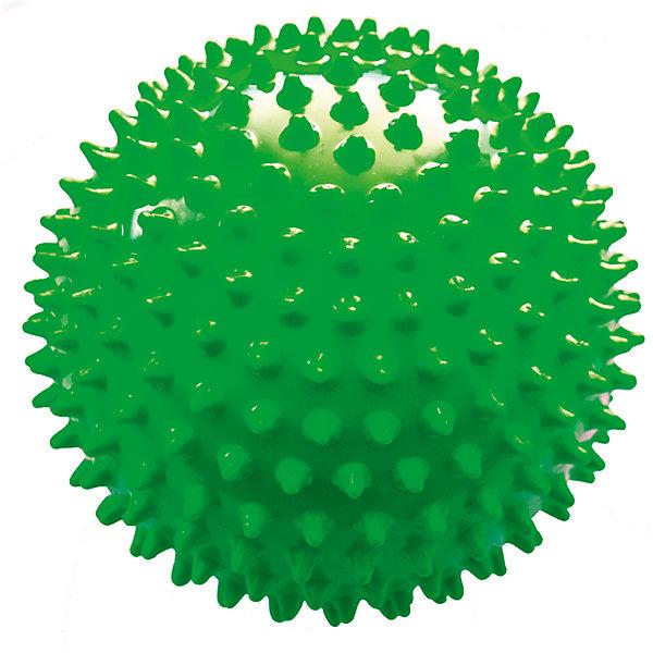 Мяч ёжик зеленый, 6,5 см, МалышОКМассажеры<br>Характеристики товара:<br><br>• диаметр мяча: 6,5 см;<br>• материал: ПВХ;<br>• цвет: зеленый;<br>• возраст: от 0 месяцев;<br>• размер упаковки: 7х7х7 см;<br>• вес: 30 грамм;<br>• страна бренда: Россия.<br><br>Мяч ёжик - игровой мяч для детей с рождения. Его можно использовать для игр, массажа или во время водных процедур.<br><br>Занятия с массажным мячом хорошо влияют на развитие мускулатуры, центральной нервной системы, ускорение капиллярного кровотока. Во время игры с мячом развиваются тактильные ощущения, цветовое восприятие и координация движений малыша.<br><br>Мяч изготовлен из гипоаллергенного материала.<br><br>Мяч ёжик зеленый, 6,5 см, МалышОК можно купить в нашем интернет-магазине.<br>Ширина мм: 70; Глубина мм: 70; Высота мм: 70; Вес г: 30; Возраст от месяцев: 6; Возраст до месяцев: 2147483647; Пол: Унисекс; Возраст: Детский; SKU: 6894013;
