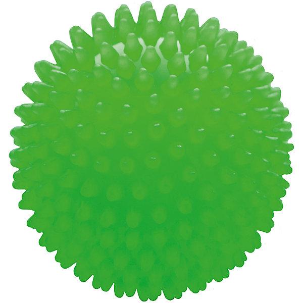 Малышок Мяч ёжик зеленый, 8,5 см, МалышОК