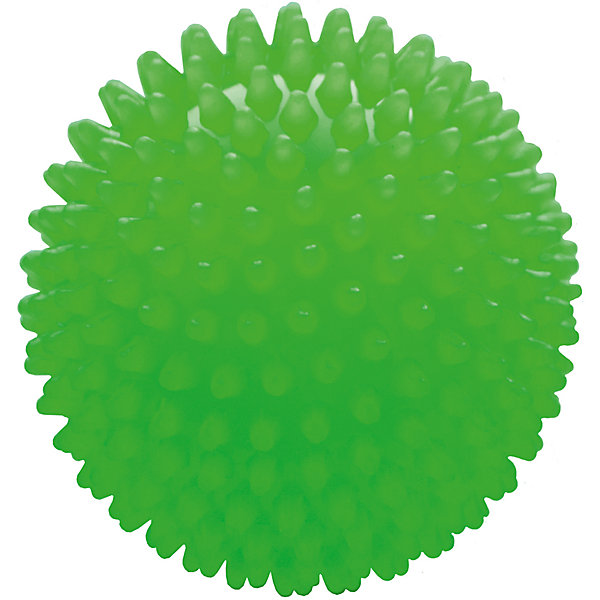 Малышок Мяч ёжик зеленый люминесцентный, 8,5 см, МалышОК