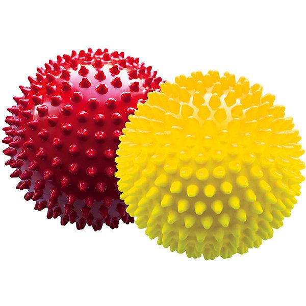 Малышок Набор мячей ёжиков, красный и желтый, 12 см, МалышОК