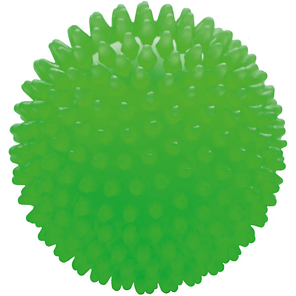 Малышок Мяч ёжик зеленый люминесцентный, 18 см, МалышОК