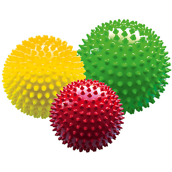 Набор из 3-х мячей ёжиков «Светофор», 8,5 см, МалышОК
