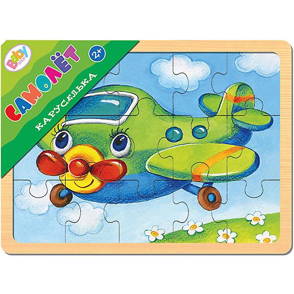 Игра из дерева Каруселька. Самолёт, Step PuzzleПазлы для малышей<br>Характеристики:<br><br>• количество деталей: 15 шт.;<br>• размер игрового планшета: 22,0х14,7см;<br>• размер готовой картинки:20,0х13,5см;<br>• состав: дерево;<br>• вес: 187г.;<br>• для детей в возрасте: от 2лет;<br>• страна производитель: Россия.<br><br>Настольная развивающая игра из дерева «Каруселька. Самолёт.» (Beby Step) от компании специализирующейся на создании пазлов и настольных игр бренда «Steppuzzle» (Степ Пазл) станет хорошим пополнением настольных игр вашего ребенка.<br><br>Игра «Каруселька» создана для детишек, только начинающих знакомство с пазлами. Простая яркая картинка с изображением самолётика привлечёт внимание, что позволит достичь результата.<br><br>Детали пазла очень красочные и хорошо собираются.  Игра сделана из специально обработанного дерева, пазлы гладкие и безопасные.  Собрав части пазла в планшете они превратиться красивую картину. Если разобрать, то его можно собирать снова и снова.<br><br><br>Играя с пазлами дети развивают не только память, внимательность, логическое и пространственное мышление, моторику рук, усидчивость, терпение, но просто весело и с пользой проведут время.<br><br>Игру из дерева «Каруселька.Самолёт.»(Beby Step) от компании «Steppuzzle» (Степ Пазл)company можно приобрести в нашем интернет-магазине.<br>Ширина мм: 220; Глубина мм: 149; Высота мм: 8; Вес г: 187; Возраст от месяцев: 24; Возраст до месяцев: 2147483647; Пол: Мужской; Возраст: Детский; SKU: 6894225;