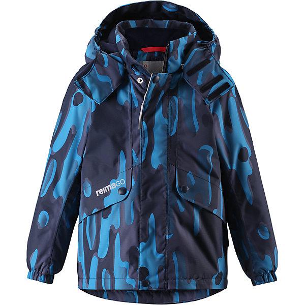 Куртка Elo Reimatec® Reima для мальчикаОдежда<br>Характеристики товара:<br><br>• цвет: синий;<br>• состав: 100% полиэстер;<br>• утеплитель: 160 г/м2;<br>• сезон: зима;<br>• температурный режим: от 0 до -20С;<br>• водонепроницаемость: 15000 мм;<br>• воздухопроницаемость: 7000 мм;<br>• износостойкость: 35000 циклов (тест Мартиндейла);<br>• водо и ветронепроницаемый, дышащий и грязеотталкивающий материал;<br>• все швы проклеены и водонепроницаемы;<br>• безопасный съемный и регулируемый капюшон на кнопках;<br>• застежка: молния с дополнительной планкой на кнопках;<br>• защита подбородка от защемления;<br>• гладкая подкладка из полиэстера;<br>• эластичные манжеты;<br>• регулируемый подол;<br>• внутренний нагрудный карман;<br>• два кармана на молнии;<br>• карман с креплением для сенсора ReimaGO®;<br>• светоотражающие элементы;<br>• система кнопок Play Layers® к этой куртке можно присоединять одежду промежуточного слоя Reima®;<br>• страна бренда: Финляндия;<br>• страна производства: Китай.<br><br>Зимняя куртка с капюшоном Reimatec® изготовлена из водо и ветронепроницаемого, прочного и дышащего материала, который эффективно отталкивает грязь. Все швы проклеены, водонепроницаемы. Куртка на молнии прямого покроя подол при необходимости легко регулируется, что позволяет подогнать куртку точно по фигуре. <br><br>Съемный и регулируемый капюшон защищает от пронизывающего ветра и проливного дождя, а еще он безопасен во время игр на свежем воздухе. С помощью удобной системы кнопок Play Layers® к этой куртке можно присоединять одежду промежуточного слоя Reima®, которая подарит вашему ребенку дополнительное тепло и комфорт. <br><br>В куртке предусмотрены два кармана на молнии, внутренний нагрудный карман, карман для сенсора ReimaGO® и множество светоотражающих деталей. Эта куртка очень проста в уходе, кроме того, ее можно сушить в стиральной машине.<br><br>Куртка Elo Reimatec® Reima можно купить в нашем интернет-магазине.<br>Ширина мм: 356; Глубина мм: 10; Высота мм: 245; Вес г: 519;