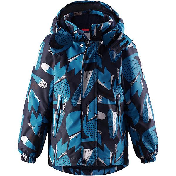 Утепленная куртка Reima Multe ReimatecОдежда<br>Характеристики товара:<br><br>• состав: 100% полиэстер;<br>• подкладка: 100% полиэстер;<br>• утеплитель: 160 г/м2<br>• температурный режим: от 0 до -20С;<br>• сезон: зима; <br>• водонепроницаемость: 15000 мм;<br>• воздухопроницаемость: 7000 мм;<br>• износостойкость: 40000 циклов (тест Мартиндейла);<br>• водо- и ветронепроницаемый, дышащий и грязеотталкивающий материал;<br>• все швы проклеены и водонепроницаемы;<br>• гладкая подкладка из полиэстера;<br>• эластичные манжеты;<br>• застежка: молния с защитой подбородка;<br>• безопасный съемный и регулируемый капюшон на кнопках;<br>• регулируемый подол;<br>• два кармана на молнии;<br>• внутренний нагрудный карман;<br>• карман с креплением для сенсора ReimaGO®;<br>• светоотражающие детали;<br>• страна бренда: Финляндия;<br>• страна изготовитель: Китай.<br><br>Детская непромокаемая зимняя куртка Reimatec® изготовлена из водо и ветронепроницаемого, дышащего и прочного материала с высокими грязеотталкивающими свойствами. Все швы проклеены, водонепроницаемы. В этой модели прямого покроя подол при необходимости легко регулируется, что позволяет подогнать куртку точно по фигуре. <br><br>Съемный и регулируемый капюшон защищает от пронизывающего ветра и проливного дождя, а еще он безопасен во время игр на свежем воздухе. С помощью удобной системы кнопок Play Layers® к этой куртке можно присоединять одежду промежуточного слоя Reima®, которая подарит вашему ребенку дополнительное тепло и комфорт. <br><br>В куртке предусмотрены эластичные манжеты, два кармана на молнии, внутренний нагрудный карман, карман для сенсора ReimaGO® и множество светоотражающих деталей. Эта куртка очень проста в уходе, кроме того, ее можно сушить в стиральной машине.<br><br> Вся одежда Reima производится с запасом роста +6 см. Производитель рекомендует использовать термобелье и флисовую поддеву для сильных морозов.