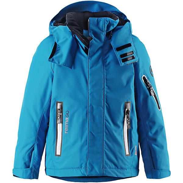 Куртка Regor Reimatec® Reima для мальчикаОдежда<br>Характеристики товара:<br><br>• цвет: голубой;<br>• состав: 100% полиэстер;<br>• утеплитель: 140 г/м2;<br>• сезон: зима;<br>• температурный режим: от 0 до -20С;<br>• водонепроницаемость: 15000 мм;<br>• воздухопроницаемость: 7000 мм;<br>• износостойкость: 40000 циклов (тест Мартиндейла);<br>• водоотталкивающий, ветронепроницаемый и дышащий материал;<br>• все швы проклеены и водонепроницаемы;<br>• гладкая подкладка из полиэстера;<br>• застежка: молния с защитой подбородка от защемления;<br>• безопасный съемный и регулируемый капюшон;<br>• регулируемые манжеты и внутренние манжеты из лайкры;<br>• регулируемый подол;<br>• внутренняя снежная юбка;<br>• карманы на молнии, карман для skipass на рукаве;<br>• карман для очков и внутренний нагрудный карман;<br>• карман с креплениями для сенсора ReimaGO®<br>• светоотражающие элементы;<br>• страна бренда: Финляндия;<br>• страна производства: Китай.<br><br>Зимняя куртка с капюшоном Reimatec® с полностью проклеенными швами. Куртка на молнии сшита из специального материала – водо и ветронепроницаемого, и в то же время дышащего. Эта куртка с подкладкой из гладкого полиэстера легко надевается, и ее очень удобно носить с теплым промежуточным слоем. <br>Манжеты и подол куртки регулируются, так что ее можно подогнать идеально по фигуре. Снежная юбка не пропустит вовнутрь ни снежинки, а за ненадобностью ее можно пристегнуть к подкладке. Съемный и регулируемый капюшон безопасен, поскольку легко отстегнется, если вдруг за что-нибудь зацепится. Капюшон также оснащен козырьком и отворотом, защищающим шею от ветра. <br>Отделку куртки довершает карман для лыжной карты на рукаве, нагрудный карман и карман на молнии и специальный карман для сенсора ReimaGO. Эта куртка очень проста в уходе, кроме того, ее можно сушить в сушильной машине. Благодаря множеству практичных деталей эта прочная куртка просто создана для зимних забав.<br><br>Куртку Regor для мальчика Reimatec® Reima можно купить в нашем