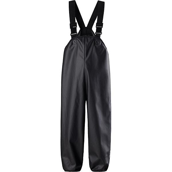 Дождевые брюки Reima Lammikko для мальчикаОдежда<br>Характеристики товара:<br><br>• цвет: черный;<br>• состав: 100% полиэстер;<br>• без подкладки и утеплителя;<br>• сезон: демисезон; <br>• водонепроницаемость: 8000 мм;<br>• брюки для дождливой погоды;<br>• запаянные швы, не пропускающие влагу;<br>• эластичный материал;<br>• без ПВХ;<br>• регулируемый обхват талии;<br>• эластичные штанины;<br>• съемные эластичные штрипки;<br>• регулируемые подтяжки;<br>• светоотражающие детали;<br>• страна бренда: Финляндия;<br>• страна изготовитель: Китай.<br><br>Классические брюки для дождливой погоды гарантируют полную защиту. Материал – мягкий, но водонепроницаемый и грязеотталкивающий. К тому же он не «деревенеет» на морозе, поэтому брюки можно носить круглый год. Швы запаяны и абсолютно водонепроницаемы. Удобные эластичные подтяжки удерживают брюки во время активных игр, а штрипки не дадут брючинам задираться на голенищах резиновых сапог. Без подкладки.<br><br>Брюки Lammikko Reima от финского бренда Reima (Рейма) можно купить в нашем интернет-магазине.<br>Ширина мм: 215; Глубина мм: 88; Высота мм: 191; Вес г: 336; Цвет: черный; Возраст от месяцев: 6; Возраст до месяцев: 9; Пол: Мужской; Возраст: Детский; Размер: 74,98,80,86,92,104,110,116,122,128; SKU: 6901562;