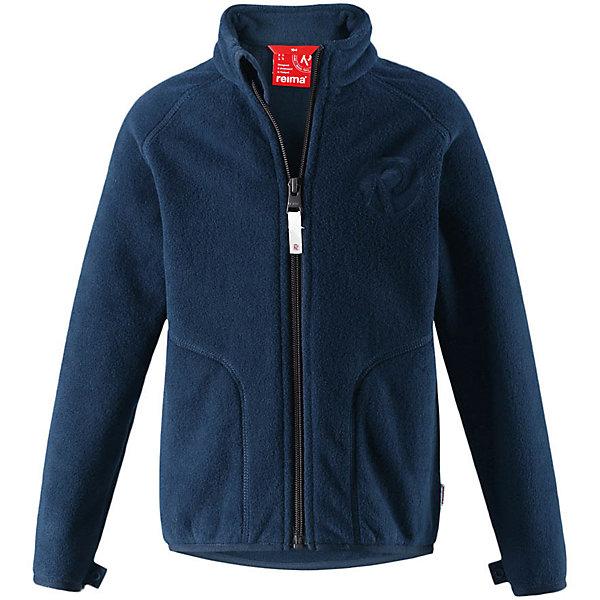 Флисовая кофта Reima Inrun для мальчикаОдежда<br>Характеристики товара:<br><br>• цвет: темно-синий;<br>• состав: 100% полиэстер, флис;<br>• быстро сохнет и сохраняет тепло;<br>• выводит влагу в верхние слои одежды;<br>• может пристегиваться к верхней одежде Reima® кнопками Play Layers®;<br>• эластичные манжеты и подол;<br>• молния по всей длине с защитой подбородка;<br>• два боковых кармана;<br>• страна бренда: Финляндия;<br>• страна производства: Китай.<br><br>Флисовая кофта на молнии превосходно послужит в качестве промежуточного слоя в морозные зимние дни – она теплая и очень мягкая на ощупь. Куртка изготовлена из легкого полярного флиса, дышащего и быстросохнущего материала. Молния во всю длину облегчает надевание, а защита для подбородка не дает поцарапать молнией шею и подбородок. <br><br>Эту практичную флисовую куртку легко можно пристегнуть к любой верхней одежде Reima®, оснащенной системой кнопок Play Layers®. Два боковых кармана и украшение в виде красивого сплошного рисунка. <br><br>Флисовую кофту Reima Inrun можно купить в нашем интернет-магазине.<br>Ширина мм: 190; Глубина мм: 74; Высота мм: 229; Вес г: 236; Цвет: синий; Возраст от месяцев: 24; Возраст до месяцев: 36; Пол: Мужской; Возраст: Детский; Размер: 98,110,104,92,140,134,128,122,116; SKU: 6901873;