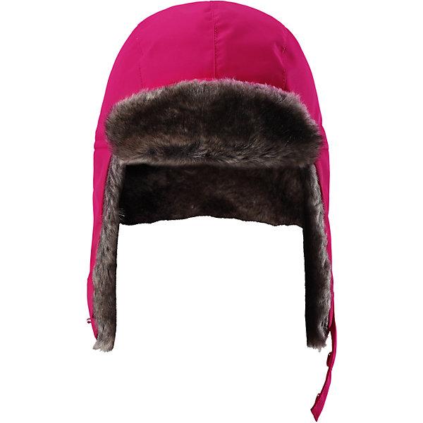 Шапка-ушанка Reimatec® Reima Ilves для девочкиШапки и шарфы<br>Характеристики товара:<br><br>• цвет: розовый;<br>• состав: 100% полиэстер;<br>• подкладка: 100% полиэстер;<br>• утеплитель: 100 г/м2;<br>• сезон: зима;<br>• температурный режим: от 0 до -20С;<br>• водонепроницаемость: 15000 мм;<br>• воздухопроницаемость: 7000 мм;<br>• износостойкость: 40000 циклов (тест Мартиндейла);<br>• ветронепроницаемый дышащий материал;<br>• все швы проклеены и водонепроницаемы;<br>• прочный материал;<br>• стильный защитный козырек;<br>• теплая подкладка из искусственного меха;<br>• застежка-ремешок на кнопках;<br>• светоотражающие детали;<br>• страна бренда: Финляндия;<br>• страна изготовитель: Китай.<br><br>Шапка для детей и подростков станет лучшим вариантом на холодную и ветреную зимнюю погоду. Она всепогодная и очень теплая, к тому же сшита из ветро и водонепроницаемого, дышащего материала. Все швы в ней запаяны, водонепроницаемы, так что голова будет надежно защищена и не промокнет. <br><br>Ворсовая подкладка очень мягкая и красиво смотрится! Шапка снабжена очень удобной застежкой на ремешке с кнопками, благодаря которой она будет хорошо сидеть и не сбиваться. Сзади имеется светоотражатель в виде логотипа Reima.<br><br>Шапку Ilves Reimatec® Reima от финского бренда Reima (Рейма) можно купить в нашем интернет-магазине.<br>Ширина мм: 89; Глубина мм: 117; Высота мм: 44; Вес г: 155; Цвет: розовый; Возраст от месяцев: 72; Возраст до месяцев: 84; Пол: Женский; Возраст: Детский; Размер: 54,48,56,52,50; SKU: 6902459;