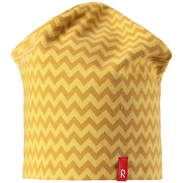 Шапка Reima HirviШапки и шарфы<br>Характеристики товара:<br><br>• цвет: желтый/серый;<br>• состав: 61% хлопок, 33% полиэстер, 6% эластан;<br>• сезон: демисезон;<br>• температурный режим: от +5 до +15С;<br>• двухсторонняя шапка;<br>• быстросохнущий материал Play jersey, приятный на ощупь;<br>• выводит влагу наружу;<br>• мягкий хлопчатобумажный материал;<br>• фактор защиты от ультрафиолета 40+;<br>• сплошная подкладка: материал Play jersey;<br>• логотип Reima® сбоку;<br>• страна бренда: Финляндия;<br>• страна изготовитель: Китай.<br><br>Легкая двусторонняя шапка для малышей и детей постарше свежей расцветки с УФ-защитой 40+. Шапка изготовлена из дышащего и быстросохнущего материла Play Jersey®, эффективно выводящего влагу с кожи. Озорная двухсторонняя шапка меняет цвет в одно мгновение.<br><br>Шапку Hirvi Reima от финского бренда Reima (Рейма) можно купить в нашем интернет-магазине.<br>Ширина мм: 89; Глубина мм: 117; Высота мм: 44; Вес г: 155; Цвет: желтый; Возраст от месяцев: 72; Возраст до месяцев: 84; Пол: Унисекс; Возраст: Детский; Размер: 54-56,50-52; SKU: 6902471;