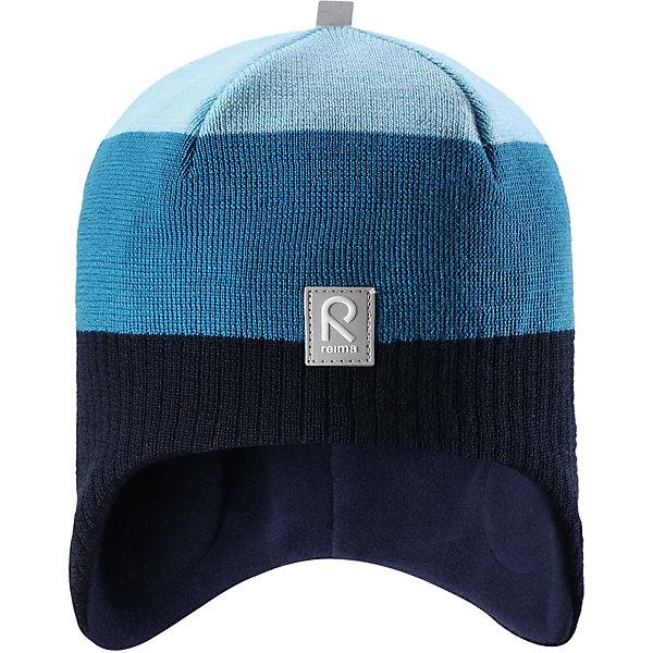 Шапка Reima Lumula для мальчикаШапки и шарфы<br>Характеристики товара:<br><br>• цвет: синий;<br>• состав: 100% шерсть;<br>• подкладка: 100% полиэстер, флис;<br>• без дополнительного утепления;<br>• сезон: зима;<br>• температурный режим: от 0 до -20С;<br>• мягкая ткань из мериносовой шерсти для поддержания идеальной температуры тела;<br>• ветронепроницаемые вставки в области ушей;<br>• сплошная подкладка: мягкий теплый флис;<br>• логотип Reima® спереди;<br>• страна бренда: Финляндия;<br>• страна изготовитель: Китай.<br><br>Детская шерстяная шапка хорошо защищает уши. Эта удобная модель хорошо закрывает уши ребенка и защищает лоб даже без завязок. Стильная шапка из 100% шерсти подшита удобной теплой флисовой подкладкой из полиэстера. Материал быстро сохнет и обладает влагоотводящими свойствами. Ветронепроницаемые вставки между верхним слоем и подкладкой обеспечивают ушкам дополнительную защиту от ветра.<br><br>Шапку Lumula Reima от финского бренда Reima (Рейма) можно купить в нашем интернет-магазине.<br>Ширина мм: 89; Глубина мм: 117; Высота мм: 44; Вес г: 155; Цвет: синий; Возраст от месяцев: 36; Возраст до месяцев: 48; Пол: Мужской; Возраст: Детский; Размер: 50,54,52,56; SKU: 6902578;