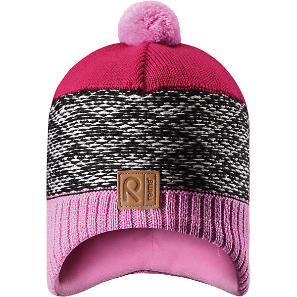 Шапка Reima TuliШапки и шарфы<br>Характеристики товара:<br><br>• цвет: розовый;<br>• состав: 50% шерсть, 50% полиакрил;<br>• подкладка: 100% полиэстер, флис;<br>• без дополнительного утепления;<br>• сезон: зима;<br>• температурный режим: от 0 до -20С;<br>• шерсть идеально поддерживает температуру;<br>• ветронепроницаемые вставки в области ушей;<br>• сплошная подкладка: мягкий теплый флис;<br>• мягкая и теплая ткань из смеси шерсти;<br>• шапка с помпоном;<br>• логотип Reima® спереди;<br>• страна бренда: Финляндия;<br>• страна изготовитель: Китай.<br><br>Детская шапка из теплого шерстяного трикотажа. Материал превосходно регулирует температуру и хорошо согревает голову. Ветронепроницаемые вставки и подкладка из мягкого флиса. Декоративный вязаный узор и помпон на макушке довершают образ.<br><br>Шапку Tuli Reima от финского бренда Reima (Рейма) можно купить в нашем интернет-магазине.<br>Ширина мм: 89; Глубина мм: 117; Высота мм: 44; Вес г: 155; Цвет: розовый; Возраст от месяцев: 36; Возраст до месяцев: 48; Пол: Унисекс; Возраст: Детский; Размер: 50,56,54,52; SKU: 6902778;