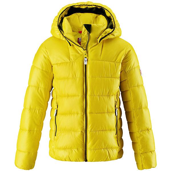 Куртка Reima Maija для девочкиОдежда<br>Характеристики товара:<br><br>• цвет: желтый;<br>• состав: 100% полиамид;<br>• подкладка: 100% полиэстер;<br>• утеплитель: 100% полиэстер;<br>• сезон: зима;<br>• температурный режим: от 0 до -20С;<br>• воздухопроницаемость: 3000 мм;<br>• пуховая куртка для подростков;<br>• водоотталкивающий, ветронепроницаемый дышащий и грязеотталкивающий материал;<br>• гладкая подкладка из полиэстера;<br>• безопасный, съемный капюшон;<br>• эластичные манжеты;<br>• два боковых кармана;<br>• светоотражающие детали;<br>• страна бренда: Финляндия;<br>• страна изготовитель: Китай.<br><br>Теплая и ветронепроницаемая зимняя куртка для детей и подростков. Куртку с гладкой подкладкой из полиэстера легко надевать и очень удобно носить. Куртка оснащена съемным капюшоном, что обеспечивает дополнительную безопасность во время активных прогулок – капюшон легко отстегивается, если случайно за что-нибудь зацепится. Два кармана на молнии для мобильного телефона и других ценных мелочей. Образ довершают практичные детали: длинная молния высокого качества и светоотражающие элементы. <br><br>Куртку Maija для девочки Reima от финского бренда Reima (Рейма) можно купить в нашем интернет-магазине.<br>Ширина мм: 356; Глубина мм: 10; Высота мм: 245; Вес г: 519; Цвет: желтый; Возраст от месяцев: 72; Возраст до месяцев: 84; Пол: Женский; Возраст: Детский; Размер: 122,164,158,152,146,140,134,128,116,110,104; SKU: 6902980;