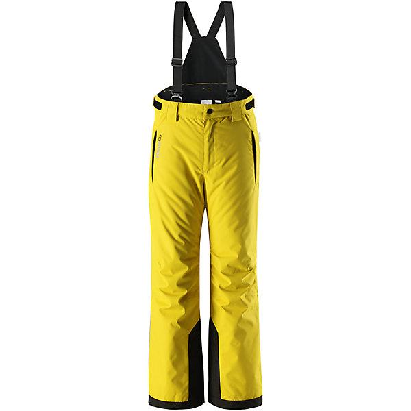 Брюки Reimatec® Reima WingonОдежда<br>Характеристики товара:<br><br>• цвет: желтый;<br>• состав: 100% полиэстер;<br>• подкладка: 100% полиэстер;<br>• утеплитель: 100 г/м2;<br>• сезон: зима;<br>• температурный режим: от 0 до -20С;<br>• водонепроницаемость: 15000/12000 мм<br>• воздухопроницаемость: 7000/8000 мм;<br>• износостойкость: 40000/80000 циклов (тест .мартиндейла);<br>• водо- и ветронепроницаемый, дышащий и грязеотталкивающий материал;<br>• все швы проклеены и водонепроницаемы;<br>• застежка: ширинка на молнии и пуговица;<br>• прочные усиленные вставки внизу брючин;<br>• гладкая подкладка из полиэстера;<br>• регулируемый обхват талии;<br>• снегозащитные манжеты на штанинах;<br>• регулируемые и отстегивающиеся карманы на молнии;<br>• два кармана на молнии;<br>• потайной карман для датчика ReimaGO®;<br>• светоотражающие детали;<br>• страна бренда: Финляндия;<br>• страна изготовитель: Китай.<br><br>Детские зимние брюки – сама практичность! Все швы в этих абсолютно водо и ветронепроницаемых зимних брюках Reimatec® проклеены и водонепроницаемы. Они сшиты из прочного, но при этом дышащего материала, который не даст ребенку вспотеть – сколько ни бегай. <br><br>Регулируемые съемные подтяжки не дадут брюкам сползать и вместе с регулируемой талией обеспечат отличную посадку по фигуре. С помощью поясных петелек на талии к этим брюкам можно пристегнуть множество моделей лыжных курток Reima. Защита от снега легко пристегивается к концам брючин и не пропускает внутрь холод и снег. А самые изнашиваемые части концов брючин мы снабдили прочными усилениями. <br><br>В брюках имеются два кармана на молнии и потайной карман для сенсора ReimaGO. Эта свободная, уютная модель прямого покроя идеально подходит для горнолыжного спорта – широкие концы брючин хорошо надеваются поверх лыжных или сноубордических ботинок.<br><br>Брюки Wingon Reimatec® Reima от финского бренда Reima (Рейма) можно купить в нашем интернет-магазине.<br>Ширина мм: 215; Глубина мм: 88; Высота мм: 191; Вес г: 336; 