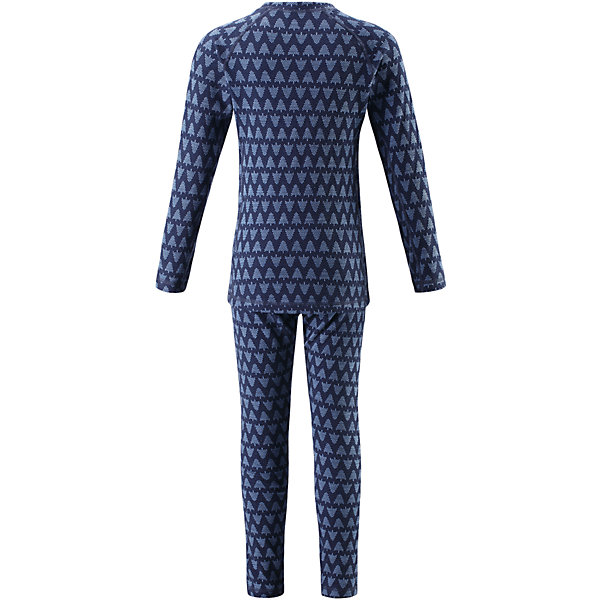 Комплект нижнего белья Reima Taival для мальчикаФлис и термобелье<br>Характеристики товара:<br><br>• цвет: синий;<br>• состав: 80% шерсть, 20% полиамид;<br>• сезон: демисезон;<br>• шерсть идеально поддерживает температуру;<br>• мягкие плоские швы для дополнительного комфорта: не раздражают кожу;<br>• удлиненный подол сзади для дополнительной защиты;<br>• эластичная талия;<br>• страна бренда: Финляндия;<br>• страна изготовитель: Китай;<br><br>Детский базовый комплект изготовлен из невероятно мягкого шерстяного жаккарда, который превосходно регулирует температуру, благодаря чему этот комплект можно носить круглый год. Этот материал очень приятный на ощупь, а мягкие плоские швы совершенно не натирают кожу. Эластичный трикотаж плотно сидит, но при этом позволяет свободно двигаться. <br><br>Комплект нижнего белья Taival Reima (Рейма) можно купить в нашем интернет-магазине.<br>Ширина мм: 196; Глубина мм: 10; Высота мм: 154; Вес г: 152; Цвет: синий; Возраст от месяцев: 84; Возраст до месяцев: 96; Пол: Мужской; Возраст: Детский; Размер: 160,80,150,140,130,120,110,100,90; SKU: 6904470;