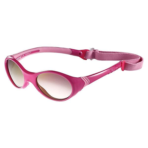 Солнцезащитные очки Reima Maininki для девочкиОдежда<br>Характеристики товара:<br><br>• цвет: розовый;<br>• рекомендуется для детей возраста 2+;<br>• защита от ультрафиолетовых лучей спектра A и спектра B класса 5;<br>• зеркальные линзы, обработанные противотуманным покрытием;<br>• застежка: липучка сзади;<br>• мягкая и эластичная оправа из TPEE и резины;<br>• имеется защитный чехол;<br>• съемный эластичный кант;<br>• страна бренда: Финляндия;<br>• страна производства: Китай.<br><br>Солнцезащитные очки для малышей и детей постарше самый важный аксессуар летнего сезона! Нужно обязательно защищать маленькие глазки от вредного ультрафиолета. Линзы в этих очках обеспечивают комплексную защиту от УФА и УФВ лучей. <br>Очки сертифицированы по стандартам ЕС. Поставляются в комплекте с удобным чехлом. Рекомендованы для детей от 0 до 4 лет. Симпатичные очки ярких расцветок очень удобны в использовании благодаря съемной эластичной резинке.<br><br>Солнцезащитные очки Maininki Reima (Рейма) можно купить в нашем интернет-магазине.<br>Ширина мм: 170; Глубина мм: 157; Высота мм: 67; Вес г: 117; Цвет: розовый; Возраст от месяцев: 48; Возраст до месяцев: 168; Пол: Женский; Возраст: Детский; Размер: one size; SKU: 6905298;