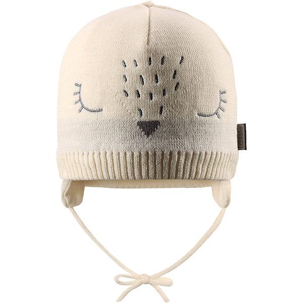 Шапка Lassie для девочкиШапки и шарфы<br>Характеристики товара:<br><br>• цвет: белый;<br>• состав: 50% шерсть, 50% полиакрил; <br>• подкладка: 100% полиэстер, флис;<br>• сезон: зима;<br>• без дополнительного утепления;<br>• температурный режим: от 0 до -20С;<br>• мягкая и теплая ткань из смеси шерсти;<br>• ветронепроницаемые вставки в области ушей;<br>• сплошная подкладка: мягкий теплый флис;<br>• шапка на завязках;<br>• светоотражающие детали;<br>• страна бренда: Финляндия;<br>• страна изготовитель: Китай;<br><br>Эта очень мягкая и теплая шапка для новорожденных – превосходный аксессуар для холодных зимних деньков. Ветронепроницаемые вставки в области ушей обеспечивают ушкам дополнительную защиту, а мягкая флисовая подкладка очень приятна на ощупь.<br><br>Шапку Lassie (Ласси) можно купить в нашем интернет-магазине.<br>Ширина мм: 89; Глубина мм: 117; Высота мм: 44; Вес г: 155; Цвет: белый; Возраст от месяцев: 6; Возраст до месяцев: 9; Пол: Женский; Возраст: Детский; Размер: 42-44,50-52,46-48,44-46; SKU: 6905540;