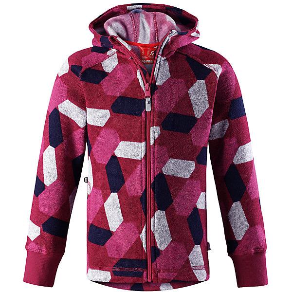 Флисовая кофта Reima NorthernОдежда<br>Характеристики товара:<br><br>• цвет: розовый;<br>• состав: 100% полиэстер; <br>• сезон: демисезон;<br>• мягкий меланжевый флисовый трикотаж: выглядит, как обычный свитер, и обладает всеми преимуществами флиса;<br>• быстро сохнет и сохраняет тепло;<br>• эластичные манжеты;<br>• молния по всей длине с защитой подбородка;<br>• два боковых кармана;<br>• карман с креплениями для сенсора ReimaGO®;<br>• страна бренда: Финляндия;<br>• страна изготовитель: Китай;<br><br>Кофта из вязаного флиса превосходно послужит в качестве промежуточного слоя во время активных зимних прогулок, кроме того она очень мягкая на ощупь. Она сшита из теплого, дышащего и быстросохнущего материала. Молния во всю длину облегчает надевание, а защита для подбородка не даст поцарапаться о зубчики. Снабжена двумя боковыми карманами и специальным потайным карманом с кнопками для сенсора ReimaGO®. Эта модная детская модель украшена сплошным рисунком и оснащена несъемным капюшоном.<br><br>Флисовую кофту Reima Northern (Рейма) можно купить в нашем интернет-магазине.<br>Ширина мм: 190; Глубина мм: 74; Высота мм: 229; Вес г: 236; Цвет: розовый; Возраст от месяцев: 36; Возраст до месяцев: 48; Пол: Унисекс; Возраст: Детский; Размер: 104,164,158,152,146,140,134,128,122,116,110; SKU: 6905989;