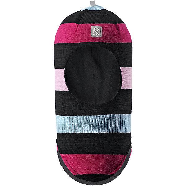 Шапка-шлем Reima Starrie для девочкиШапки и шарфы<br>Характеристики товара:<br><br>• цвет: черный/розовый;<br>• состав: 100% шерсть;<br>• подкладка: 97% хлопок, 3% эластан<br>• температурный режим: от 0 до -20С;<br>• сезон: зима; <br>• особенности модели: вязаная, на подкладке;<br>• мягкая ткань из мериносовой шерсти для поддержания идеальной температуры тела;<br>• сплошная подкладка: хлопковый трикотаж с эластаном;<br>• ветронепроницаемые вставки в области ушей;<br>• светоотражающая эмблема;<br>• логотип Reima спереди;<br>• страна бренда: Финляндия;<br>• страна изготовитель: Китай.<br><br>Вязаная шапка-шлем в полоску из коллекции Reima® Originals защищает голову малыша в холодную пору. Эта шапка-шлем для малышей и детей постарше связана из теплой шерсти и подшита мягкой на ощупь подкладкой из смеси хлопка и эластана, которая удобно облегает голову.<br><br>Ветронепроницаемые вставки в области ушей, вшитые между подкладкой и верхним слоем, защищают ушки от холодного ветра. Эта классическая модель хорошо закрывает лоб, щечки и шею. <br><br>Шапка-шлем Reima Starrie от финского бренда Reima (Рейма) можно купить в нашем интернет-магазине.<br>Ширина мм: 89; Глубина мм: 117; Высота мм: 44; Вес г: 155; Цвет: черный; Возраст от месяцев: 9; Возраст до месяцев: 12; Пол: Женский; Возраст: Детский; Размер: 46,54,52,50,48; SKU: 6907030;